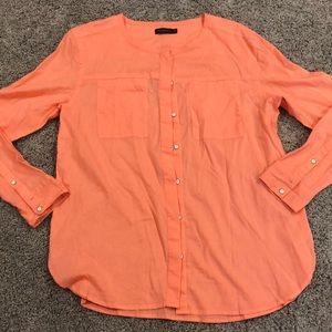 Calvin Klein jeans orange/coral top